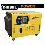 8 KW 10 kVA 8000Watts, 2V86 Silent V Twin gerador diesel silenciosa