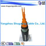 Пламя - изолировал retardant /PVC/Swa/PVC обшитый/кабель системы управления