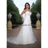 La dentelle robe de mariée de train (WD1233)