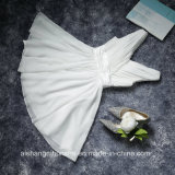 Frauen-Chiffon- Falte-Sleeveless elegantes kurzes Abend-Partei-Brautjunfer-Kleid