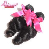 El pelo humano de la onda floja al por mayor lía el pelo sin procesar del Malaysian de la Virgen