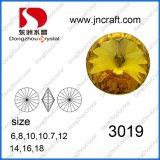 Dz-3019 delicada cortes Rivoli de lujo en piedra de cristal grueso