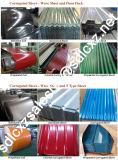 Настилать крышу гофрированный гальванизированный стальной лист и лист цвета Coated стальной