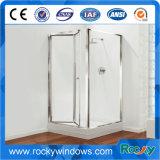 Capot supérieur de simples toilettes salle de douche en verre