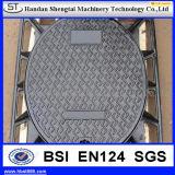 Couverture de trou d'homme de grand dos de fer de moulage (EN124 B125 C250 D400)
