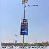 Solar Outdoor Street Pole Banner LED Publicidade Light Box