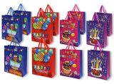 Мешок подарка дня рождения, бумажная хозяйственная сумка, мешок Kraft бумажный, мешки вечеринки по случаю дня рождения 3D присытствыющие с бирками