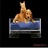Base acrílica Btr-S1028 do animal de estimação da base quadrada do sofá do cão
