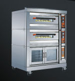 Bread Baking를 위한 3 Compartment Gas 갑판 Oven