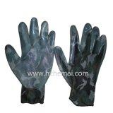 Het Nitril van de Handschoenen van de camouflage bedekte de Militaire Handschoen van het Werk van de Veiligheid met een laag