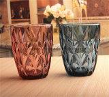 De kleurrijke Koppen van het Glas met Emblemen Customizd die de Mokken van het Glas voor het Water van het Sap drinken