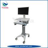 Chariot médical d'hôpital d'ordinateur complet d'utilisation