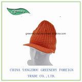 Chapéu branco do Knit da borda da natureza normal relativa à promoção
