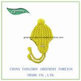 Cappello Twisted giallo promozionale del Knit di inverno di Earflap