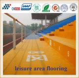 Plancher résistant de région de loisirs d'abrasion colorée à base d'eau et environnementale