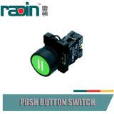 Pulsador de vuelta del resorte con símbolos de la función en el botón