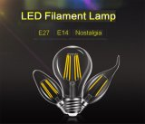 Edison Glass LED Filamento Lâmpada Home Lighting E14 E27 Candle