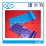 Sac d'ordures en plastique estampé par coutume coloré de PE