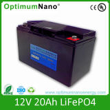 Cycle profundo 12V 20ah Lithium Battery para sistemas de controlo de Multimedia