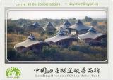 極度の贅沢な屋外リゾートのテント宮殿のテント