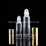 3 ml 5 ml 6 ml 10ml 12ml en verre clair sur la bouteille de rouleau avec du métal/rouleau en plastique