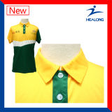 Teste padrão novo de Healong que veste camisas de polo feitas sob encomenda baratas do Sublimation
