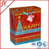 Los compradores pintados florales de los ramilletes del color reciclaron las bolsas de papel del regalo hechas por el surtidor de Dollar Tree con la maneta Twisted