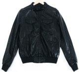 Homens Fashion Leather Pocket roupa Casaco tingidas cubra
