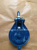 Único bloco azul pintado do carregamento da polia com grilhão 5t