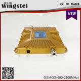 Nouveau design Gold Plus GSM / WCDMA 900 amplificateur de signal 2100MHz pour téléphone mobile