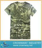 Drucken-Stück-Hemd der kundenspezifischen Männer Form gekämmtes Baumwoll