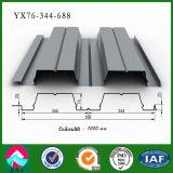 중국 Yx76-344-688에 의하여 직류 전기를 통하는 강철 지면 Decking 위원회