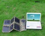 18W 12V Chargeurs solaires pliants de sortie pour ordinateur portable, Power Bank, téléphone portable avec sortie USB et DC (FSC-18B)