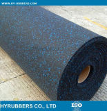 多彩な正方形の体操のゴム製床、ゴム製床ロール、連結のゴムタイル