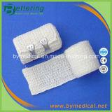 Natürlicher Farben-Baumwollspandex-medizinische elastische Krepp-Verbände