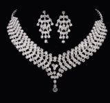 Nuovi monili stabiliti di modo della collana e dell'orecchino di cerimonia nuziale di modo di disegno
