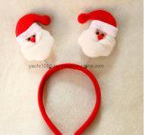 Moderne rote und weiße Plüsch-Stirnband Rotwild-Geweihe