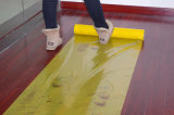 Желтый пленки PE на деревянный пол