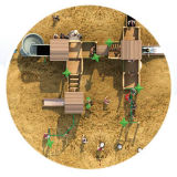 أطفال [أموسمنت برك] خشبيّ ملعب تجهيز ([هف-10001])