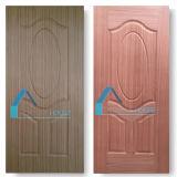 Teca y piel de madera natural de la madera contrachapada de la talla de la puerta de Sapelli
