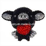 Lindo negro Bling en 3D Crystal Fly Pig absorbible de muñeca para iPhone de los casos decoraciones correa móvil regalos regalo de promoción Promoción -Pegatina Teléfono (Pip-016)