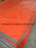 Feuille orange/argentée de bâche de protection de PE, Chine a terminé la couverture de bâche de protection