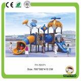 Детей тоннеля Tongyao скольжение спортивной площадки скольжения больших пластичных напольное длиной изогнутое (TY-70192)