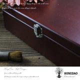 Caja de almacenamiento de joyas de madera retro de encargo de Hongdao para Sale_L