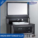 Salle de bains en acier en miroir classique français vanité Cabinet