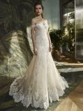 Lace Mermaid Noite Suite vestido de casamento