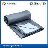 Silver Polyesters Tarp PE Doubel-Coated Oleados para cobrir