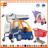 スーパーマーケットのおもちゃ車(Zht52)が付いているプラスチック買物車のトロリー