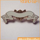 Distintivo d'ottone di marchio dell'argento su ordinazione dell'oro con la frizione della farfalla (YB-LY-C-21)