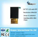 visualización de 2.8inch 240X320 TFT LCD para el dispositivo móvil y portable